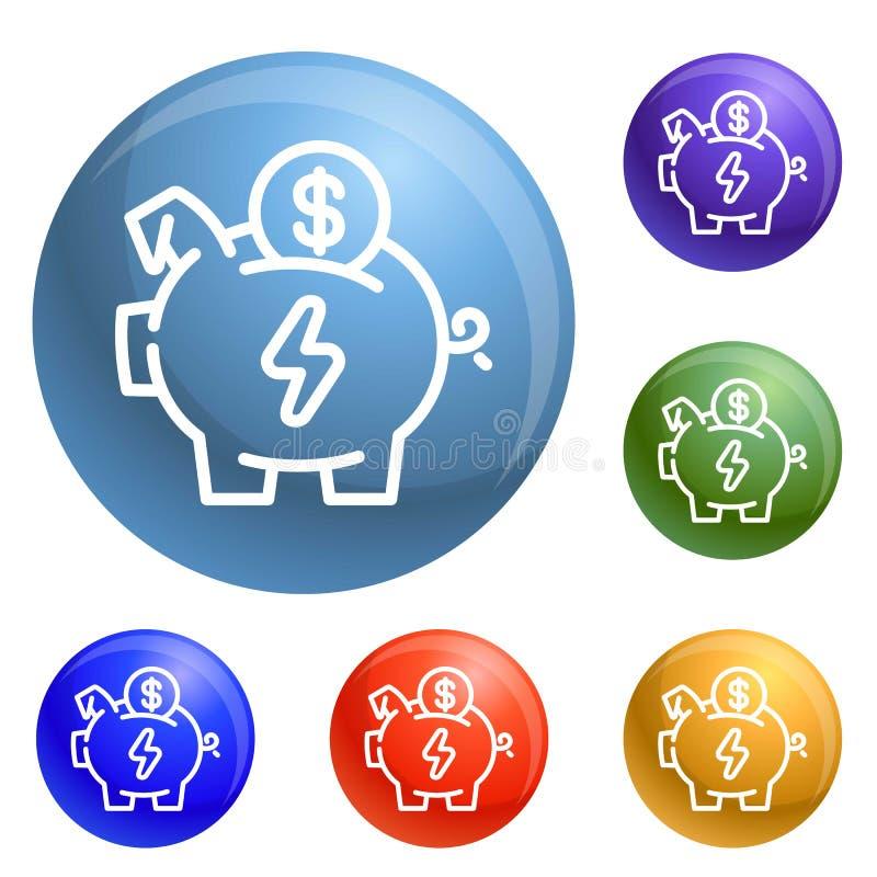 除存钱罐象集合传染媒介外的经济 向量例证