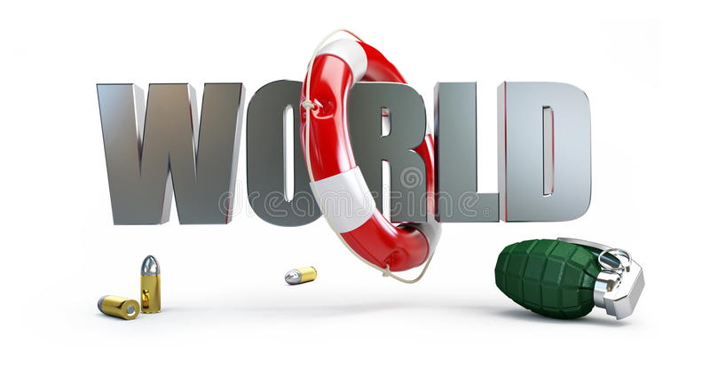 除战争世界之外 库存例证