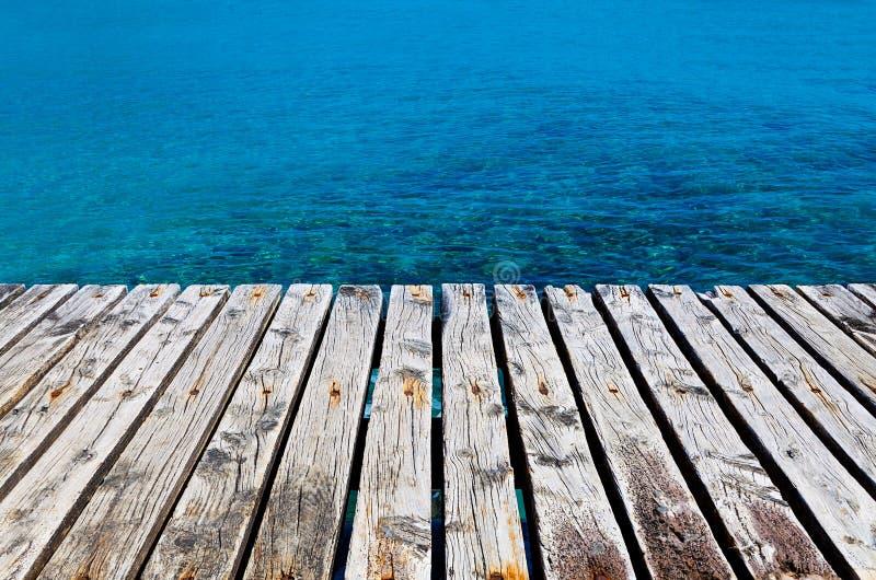 除海以外的木船坞 库存图片