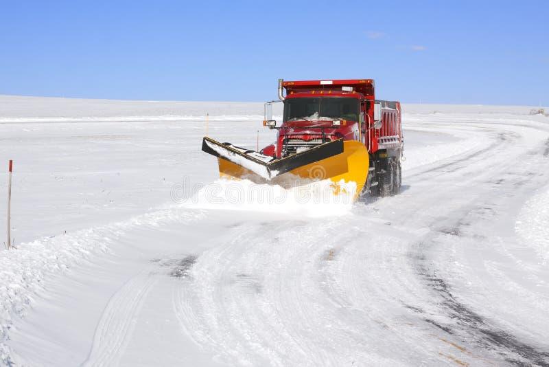 除雪机卡车 免版税库存照片