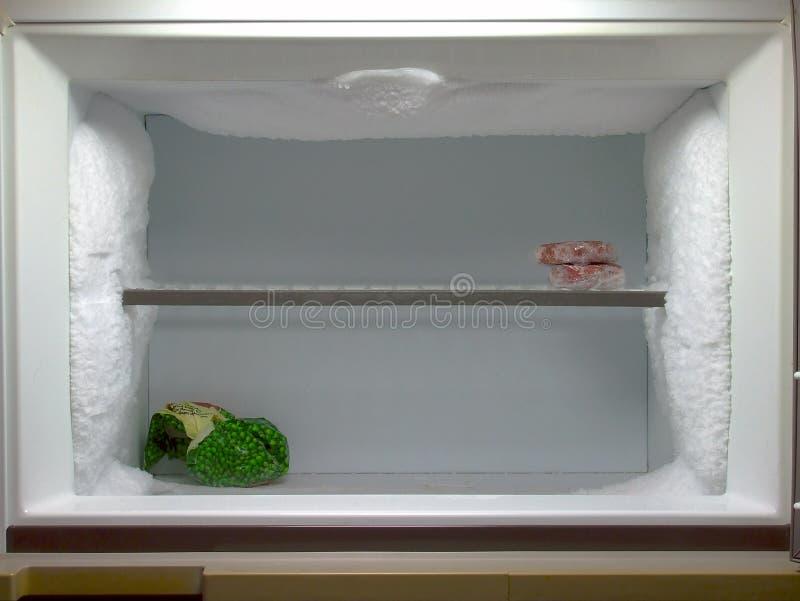 除霜的冷冻机需要 图库摄影
