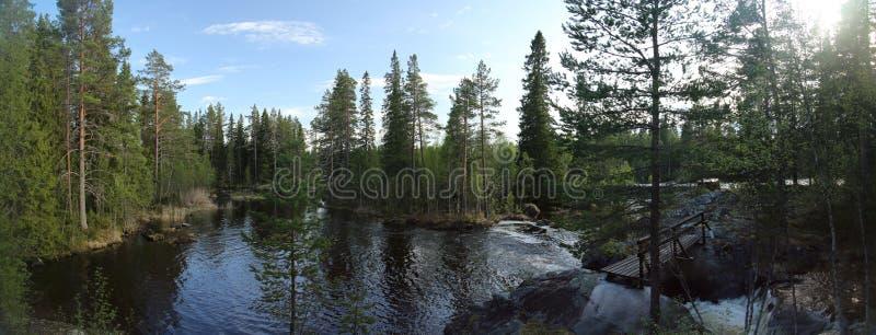 除Ammeraan以外瑞典河的湖  库存照片