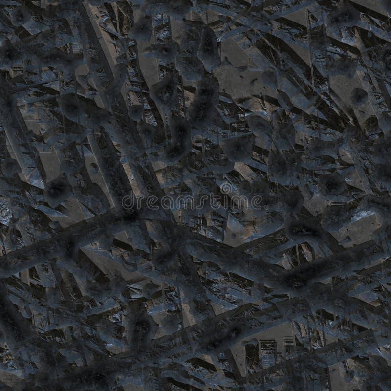 陨石的金属表面的纹理。 库存例证
