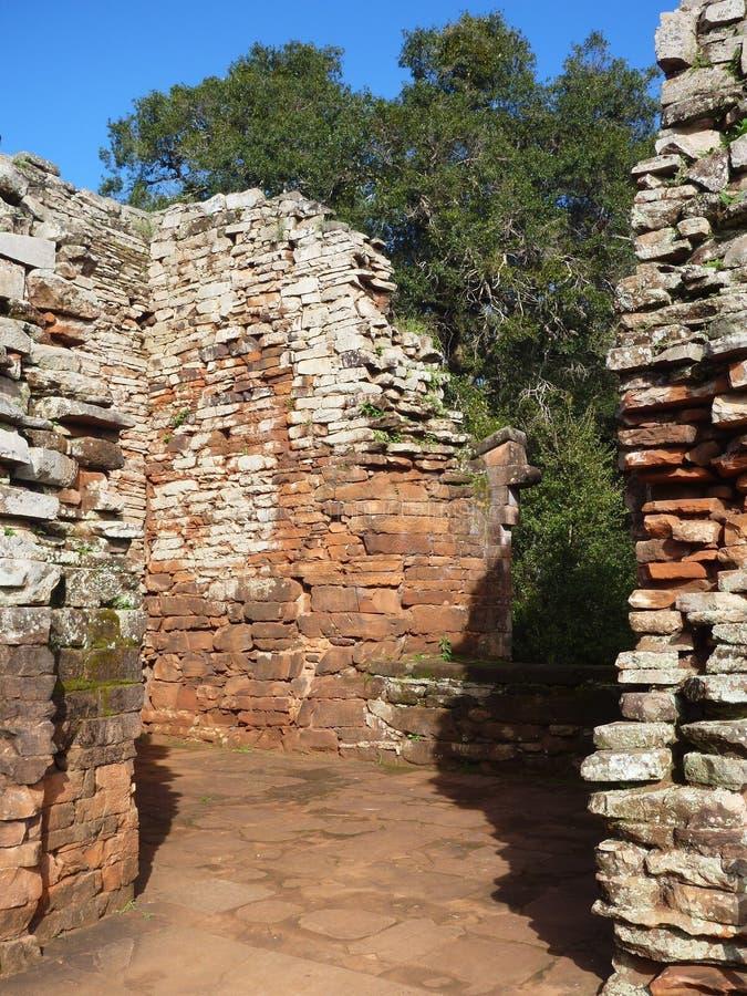 阴险的人使命圣伊廖齐废墟微型在misiones在阿根廷 库存图片
