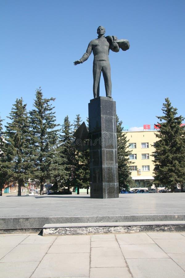 陪审员加加林的纪念碑在加加林市 库存图片