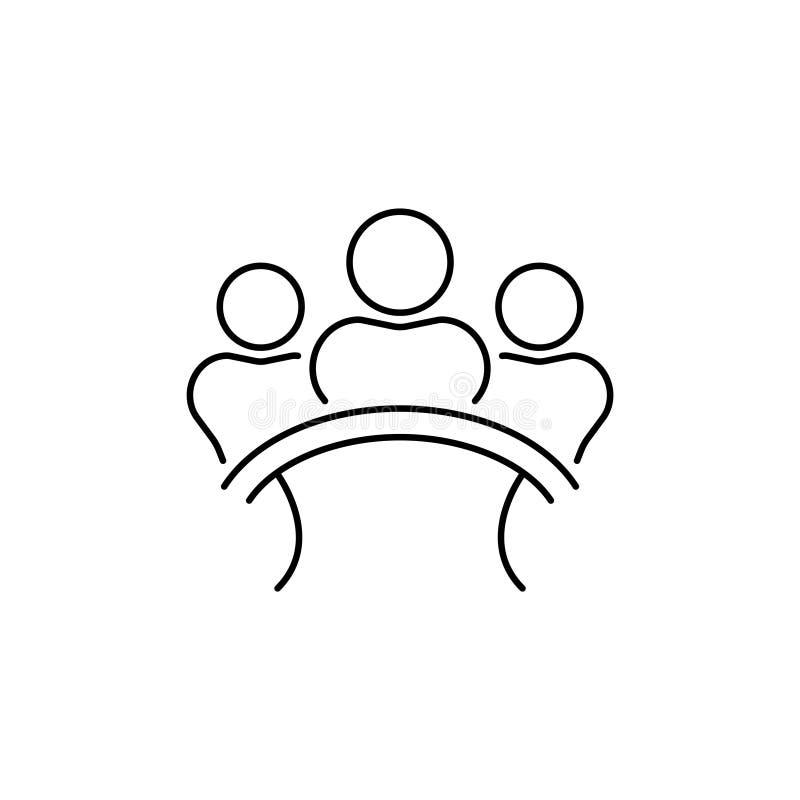 陪审团小组委员会传染媒介线,线性象 陪审员签字 向量例证