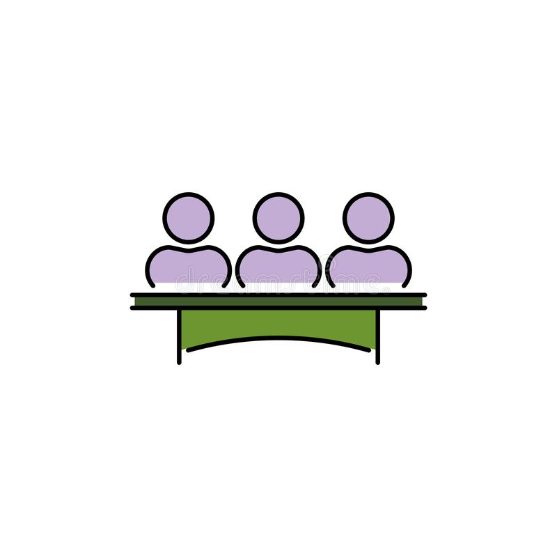 陪审团小组委员会传染媒介颜色象 陪审员签字 向量例证