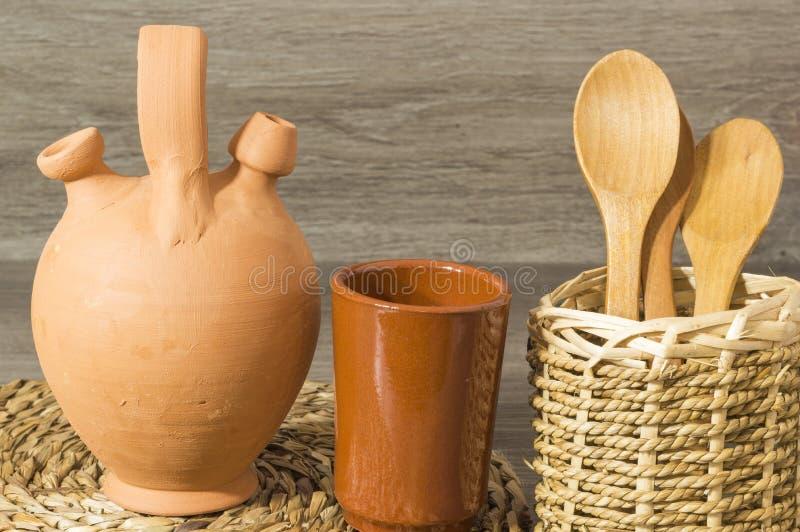 陶器投手 免版税库存照片