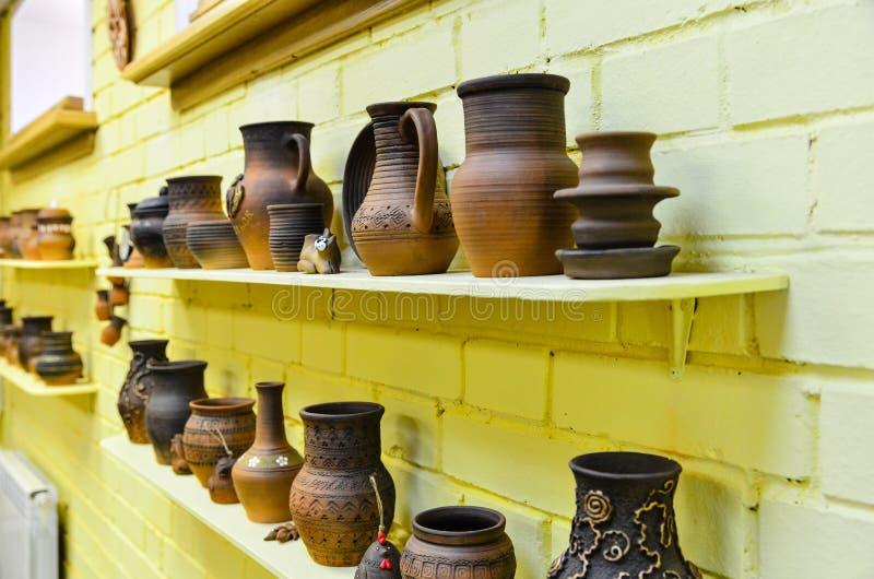 陶器,黏土厨房器物 库存照片