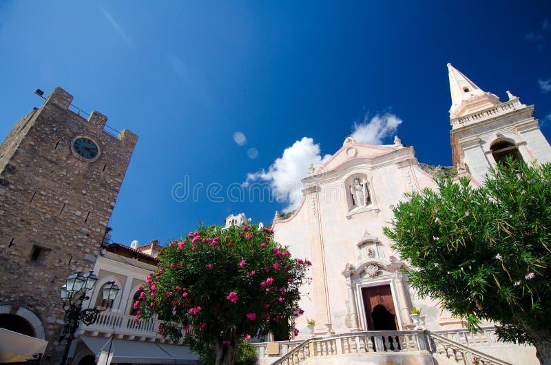 陶尔米纳-中世纪镇 免版税库存照片