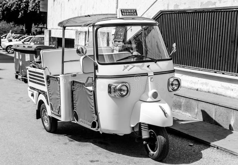 陶尔米纳-西西里岛,意大利的街道 库存照片