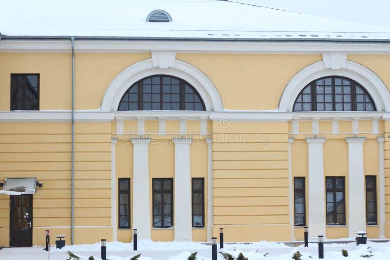 陶格夫匹尔斯,拉脱维亚,欧洲 陶格夫匹尔斯马克・罗斯科艺术中心在冬天 这是多功能当代艺术和文化centr 库存照片