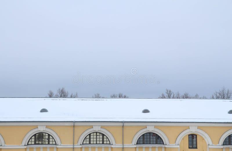 陶格夫匹尔斯,拉脱维亚,欧洲 陶格夫匹尔斯马克・罗斯科艺术中心在冬天 这是多功能当代艺术和文化centr 库存图片