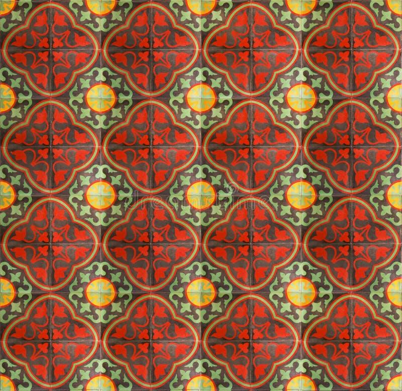 陶瓷中国坏的楼层红色 免版税库存照片