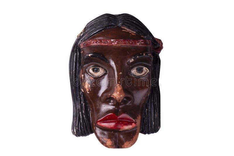 陶瓷印度面具 免版税库存照片