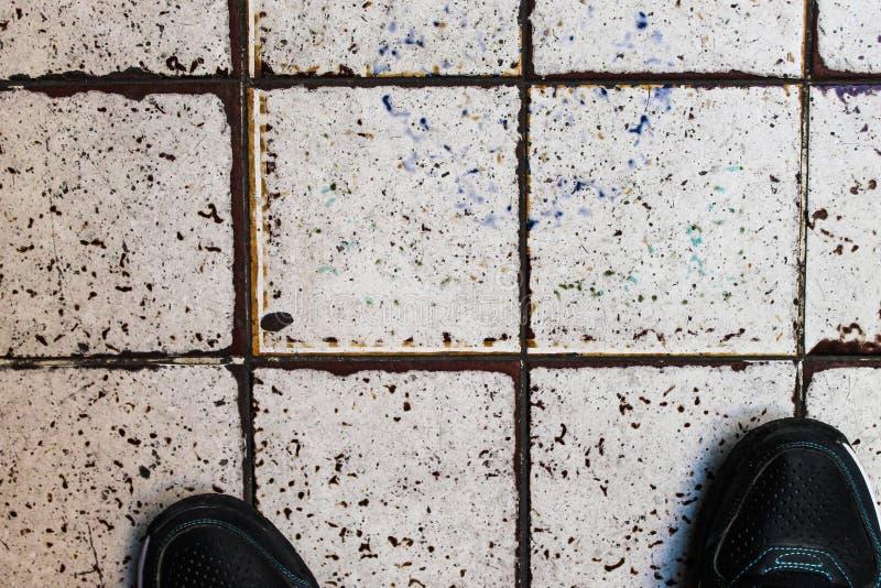 陶瓷古老瓦片背景摘要的马赛克 图库摄影