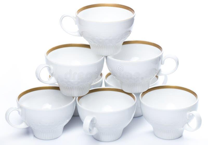 陶瓷咖啡杯 图库摄影