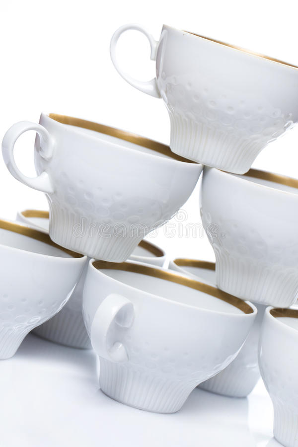 陶瓷咖啡杯 库存图片