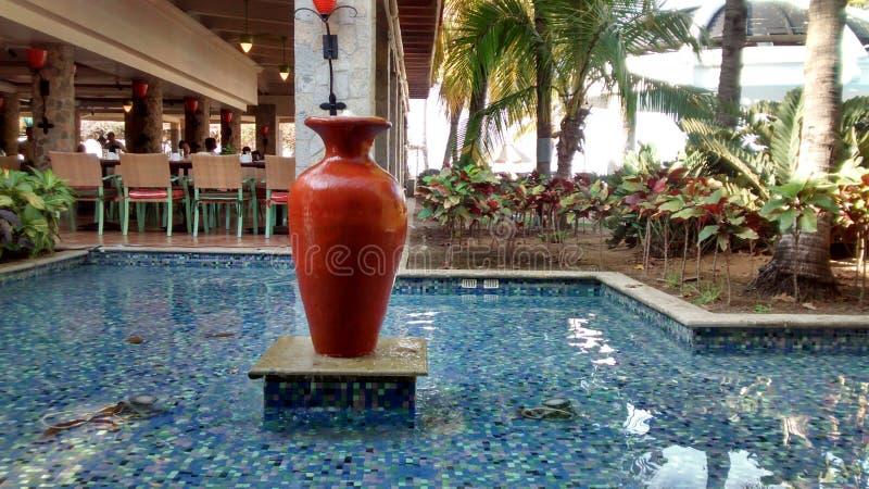 陶瓷喷泉在皮埃尔候爵 免版税图库摄影