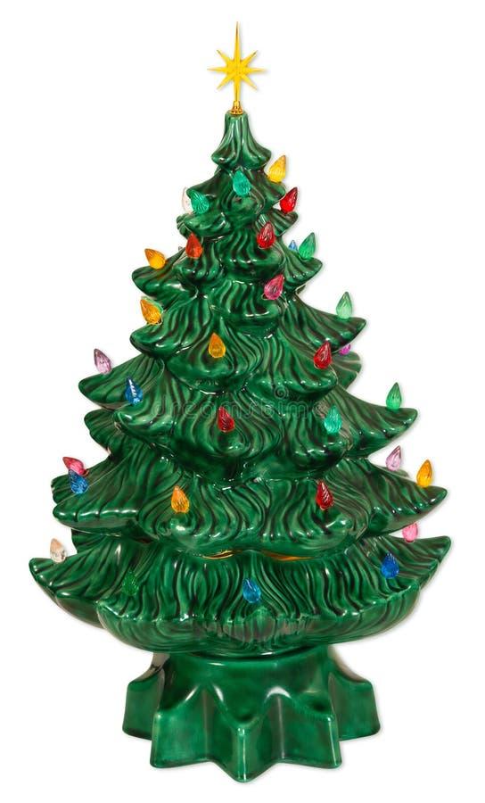 陶瓷圣诞树 免版税库存照片