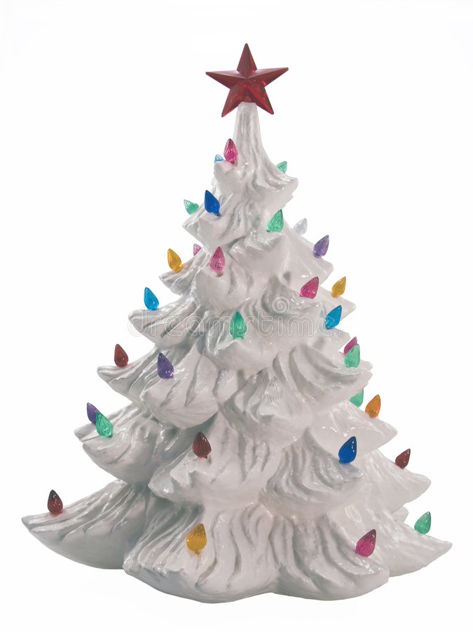 陶瓷圣诞树 免版税库存图片
