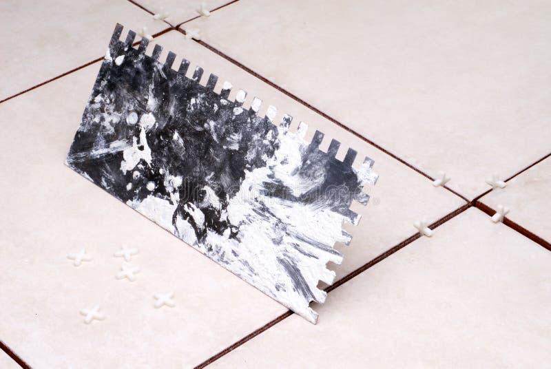 陶瓷安装的瓦片 图库摄影