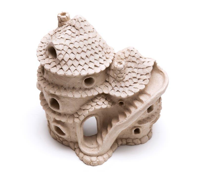 陶瓷小家家由黏土制成 库存图片