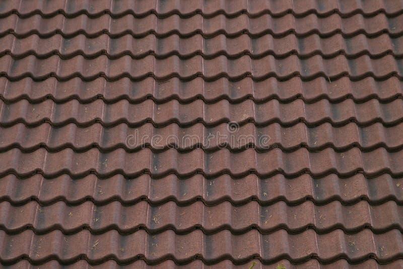 陶瓷屋顶纹理 库存照片