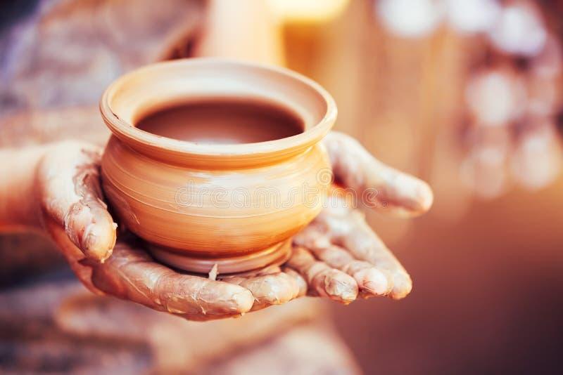 陶瓷工和黏土工艺 免版税库存图片