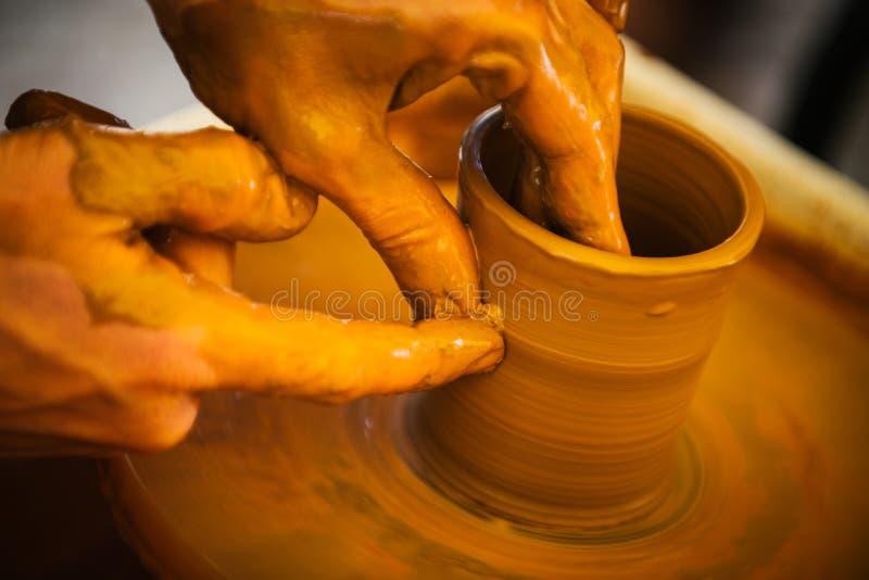 陶瓷工和黏土 免版税图库摄影