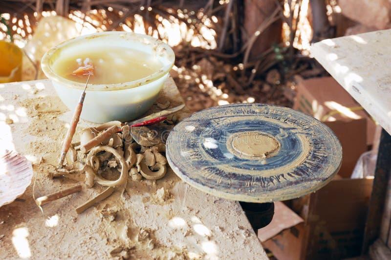 陶瓷工工作场所 库存图片