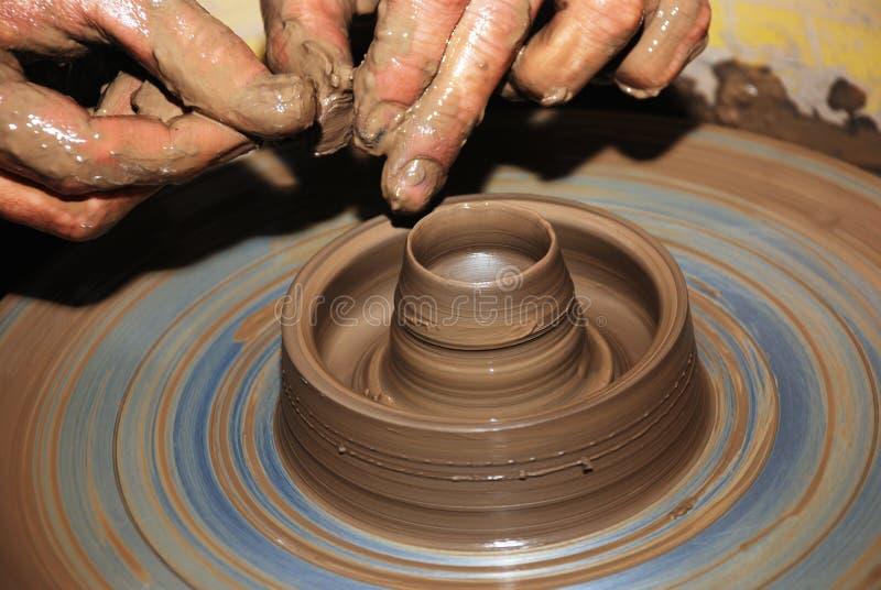 陶瓷工s轮子 库存图片
