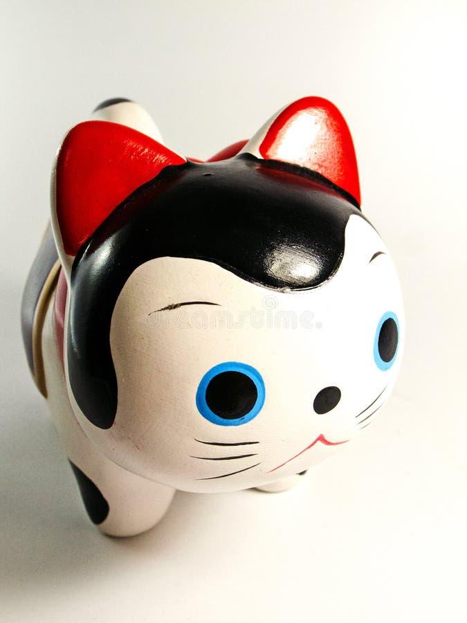 陶瓷日本猫玩偶 免版税库存图片