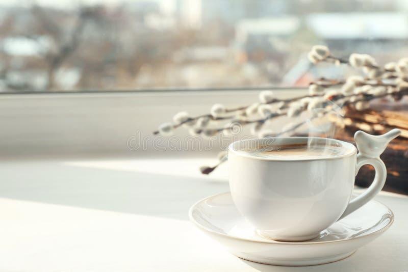 陶瓷杯子用咖啡 免版税库存照片