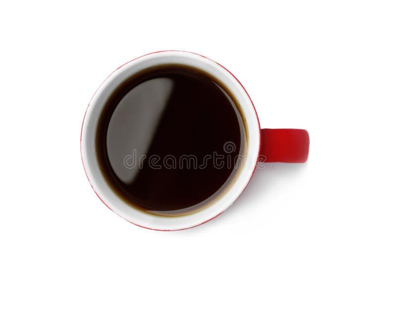 陶瓷杯子用热的芳香咖啡 图库摄影