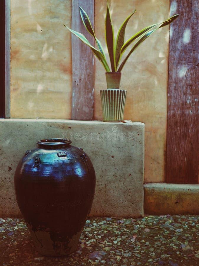 陶瓷瓦器在公园 库存图片