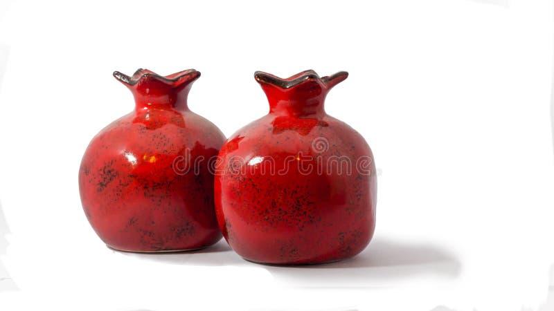 陶瓷石榴 免版税库存照片