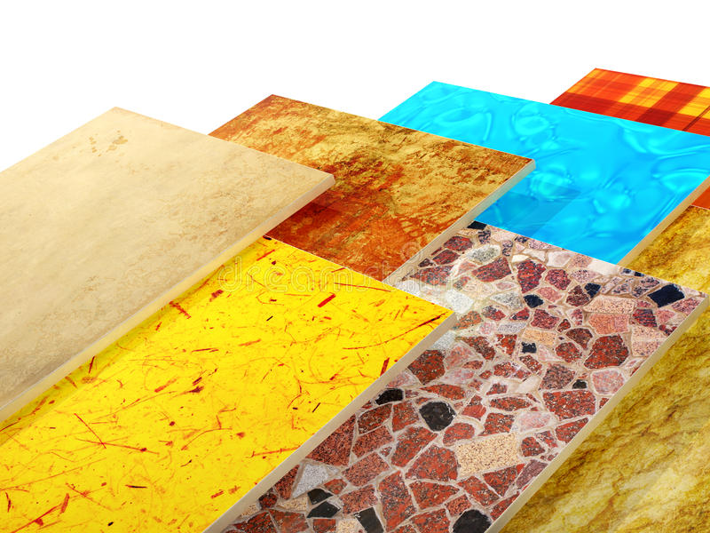 陶瓷砖样品  库存例证