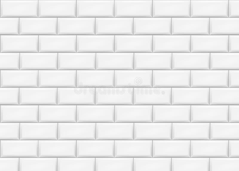 陶瓷砖瓦片墙壁 也corel凹道例证向量 皇族释放例证