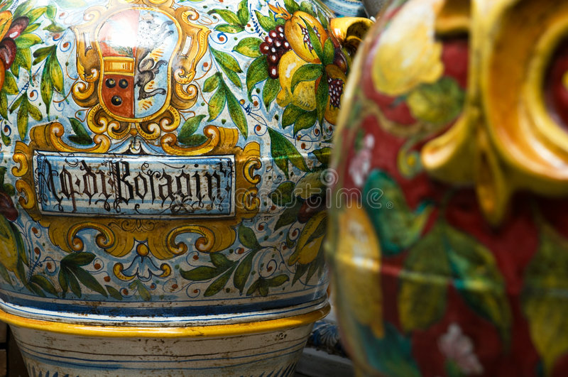 陶瓷色彩强烈 免版税图库摄影