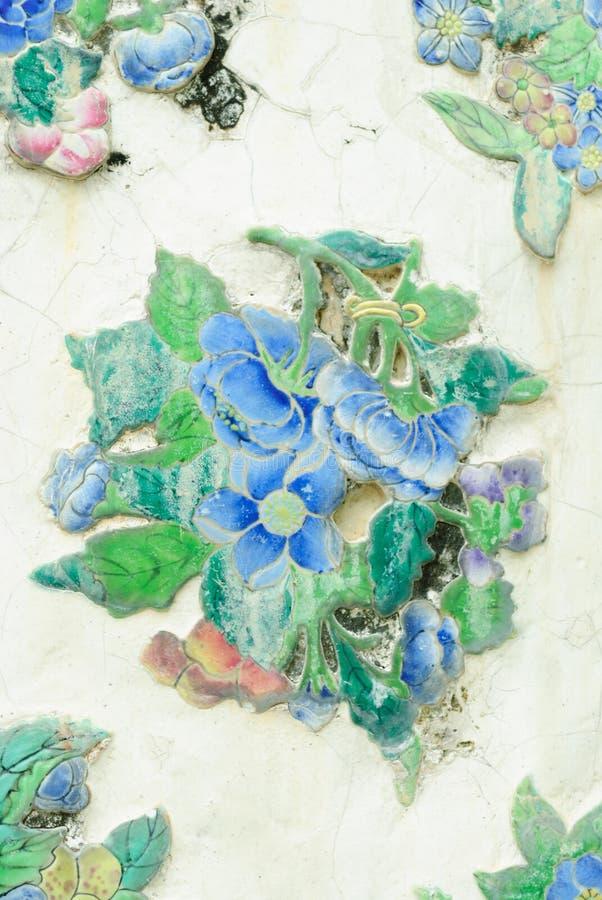 陶瓷花的纹理 库存图片