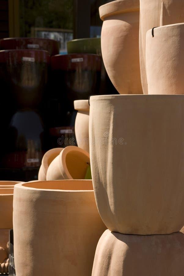 陶瓷花盆 库存图片