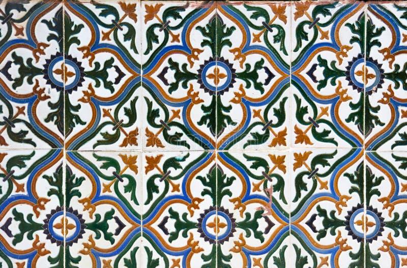 陶瓷装饰铺磁砖墙壁 免版税库存照片