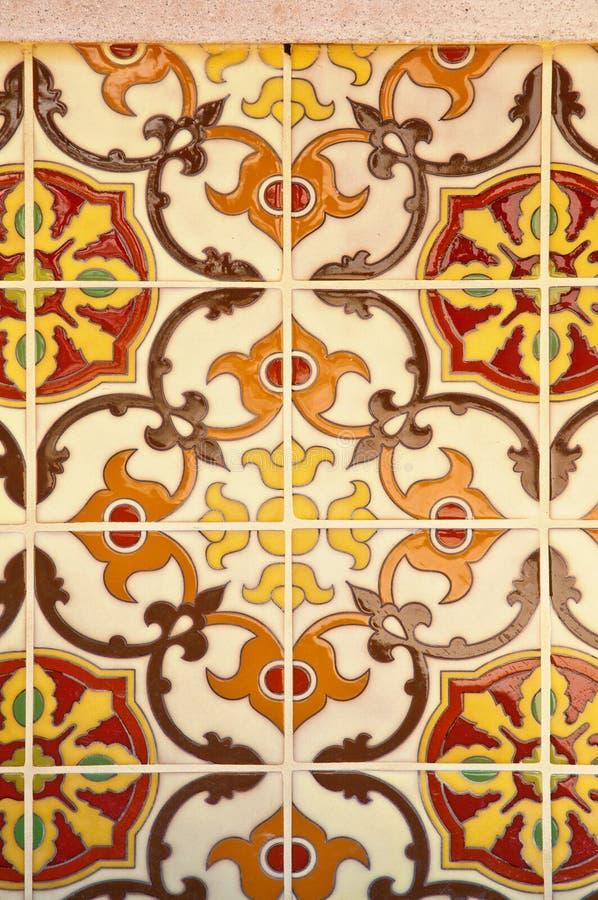 陶瓷装饰铺磁砖墙壁 免版税库存图片