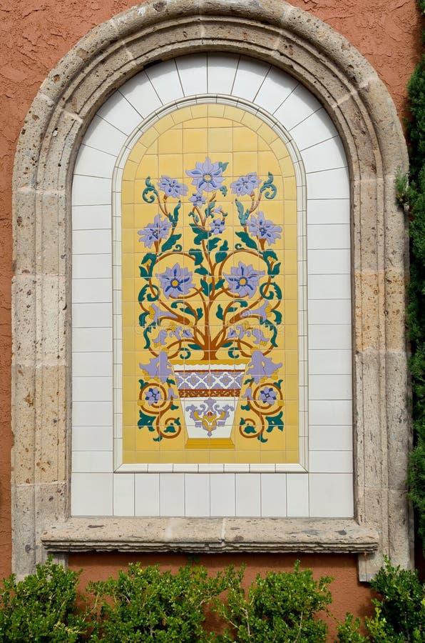 陶瓷装饰铺磁砖墙壁 库存图片