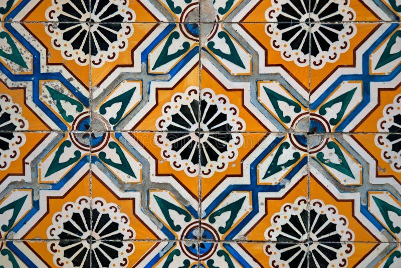 陶瓷西班牙样式铺磁砖葡萄酒 免版税库存图片