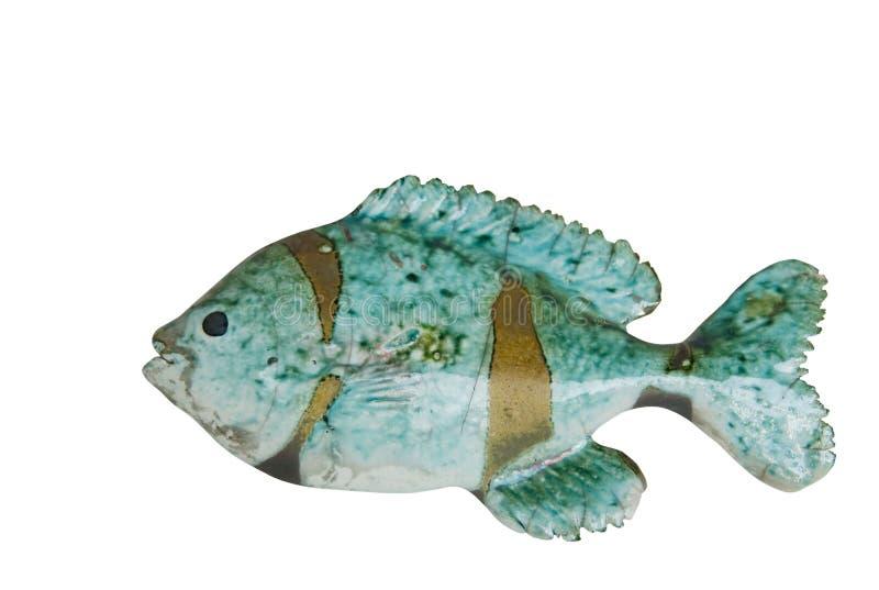 陶瓷鱼路径 免版税库存照片