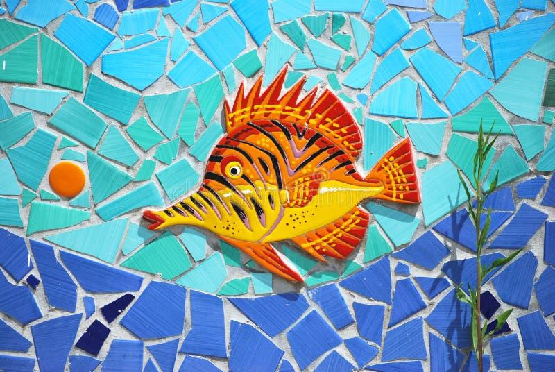 陶瓷鱼阿马尔菲海岸,意大利 库存照片