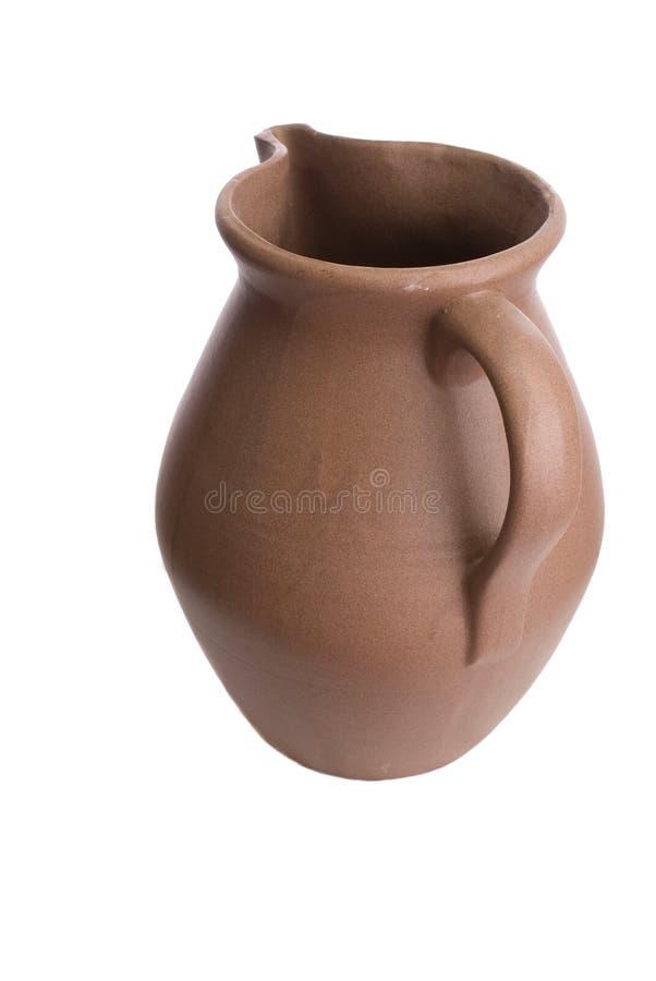 陶瓷黏土手工制造投手水 免版税库存图片