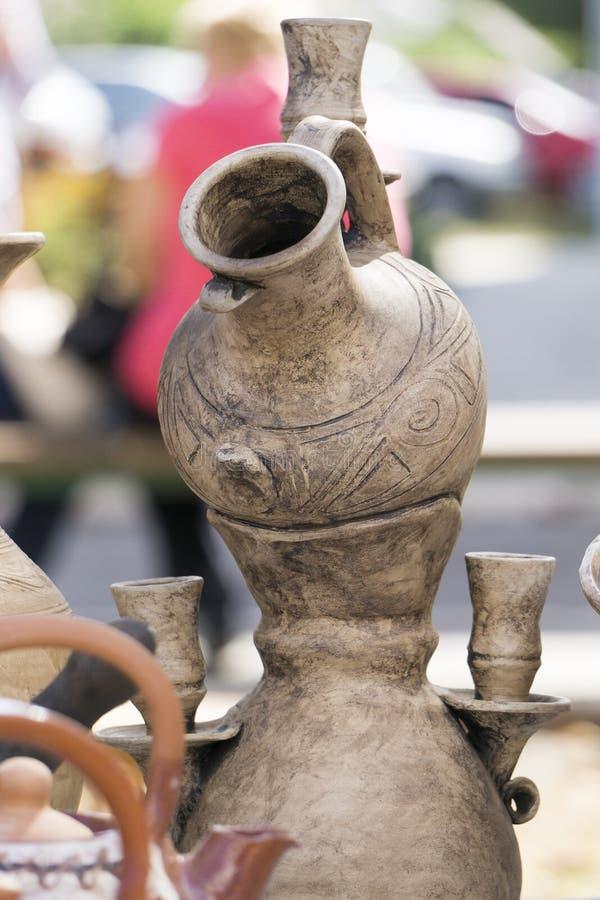 陶瓷水罐 库存图片